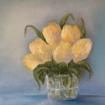 Yellow Tulips 10x10 oil $185