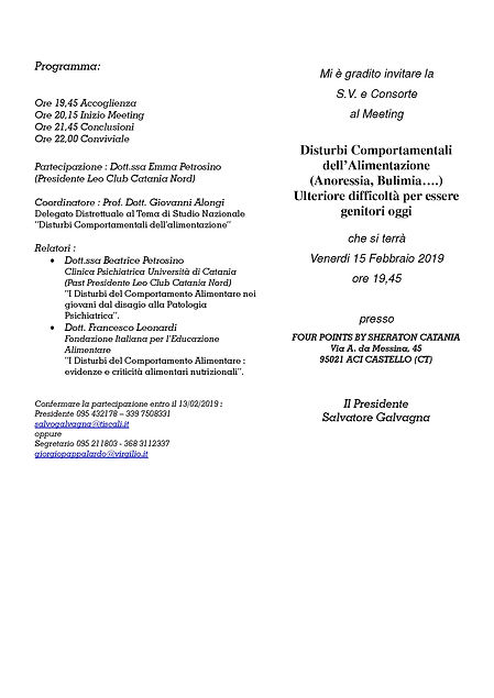 MEETING 15-02-2019 Disturbi Comportament