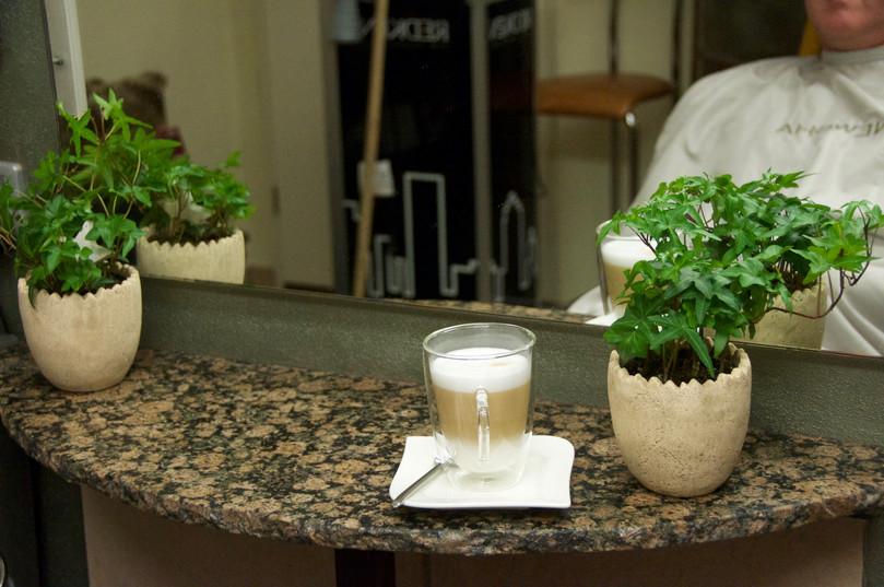 Wellness mit Tasse Kaffee