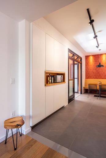 Apartamento Sta Teresa - armários e espaço café
