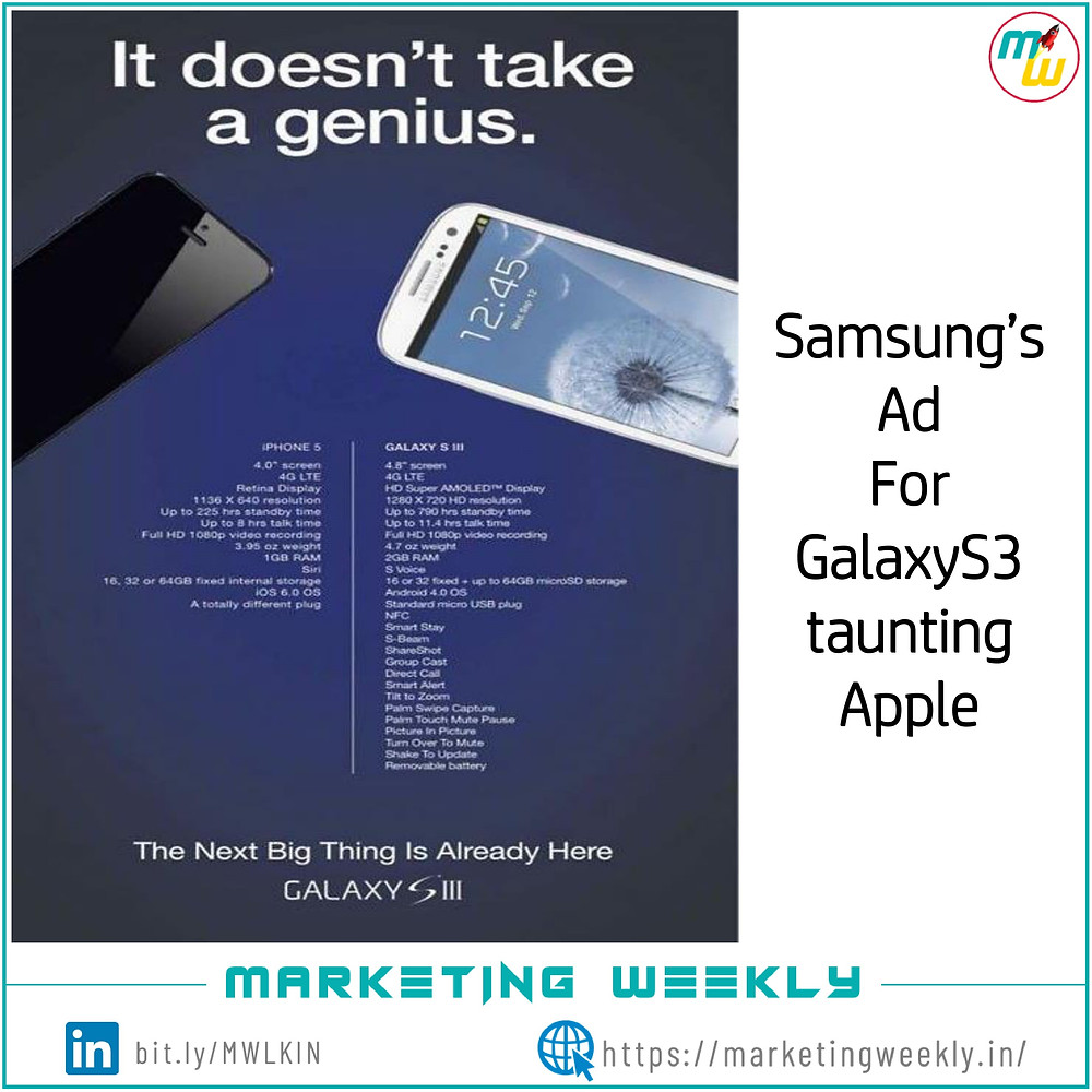 Samsung's ad for Galaxy S3