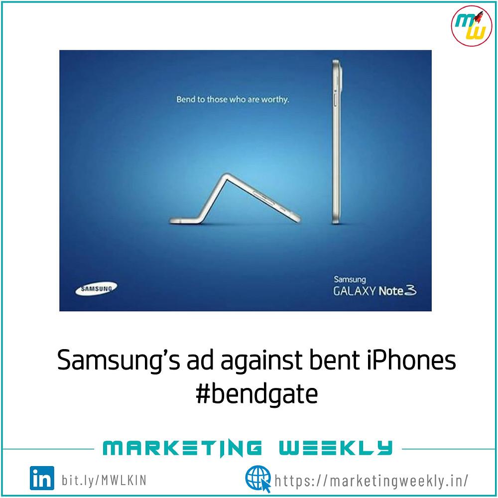 Samsung's ad against bent iPhone