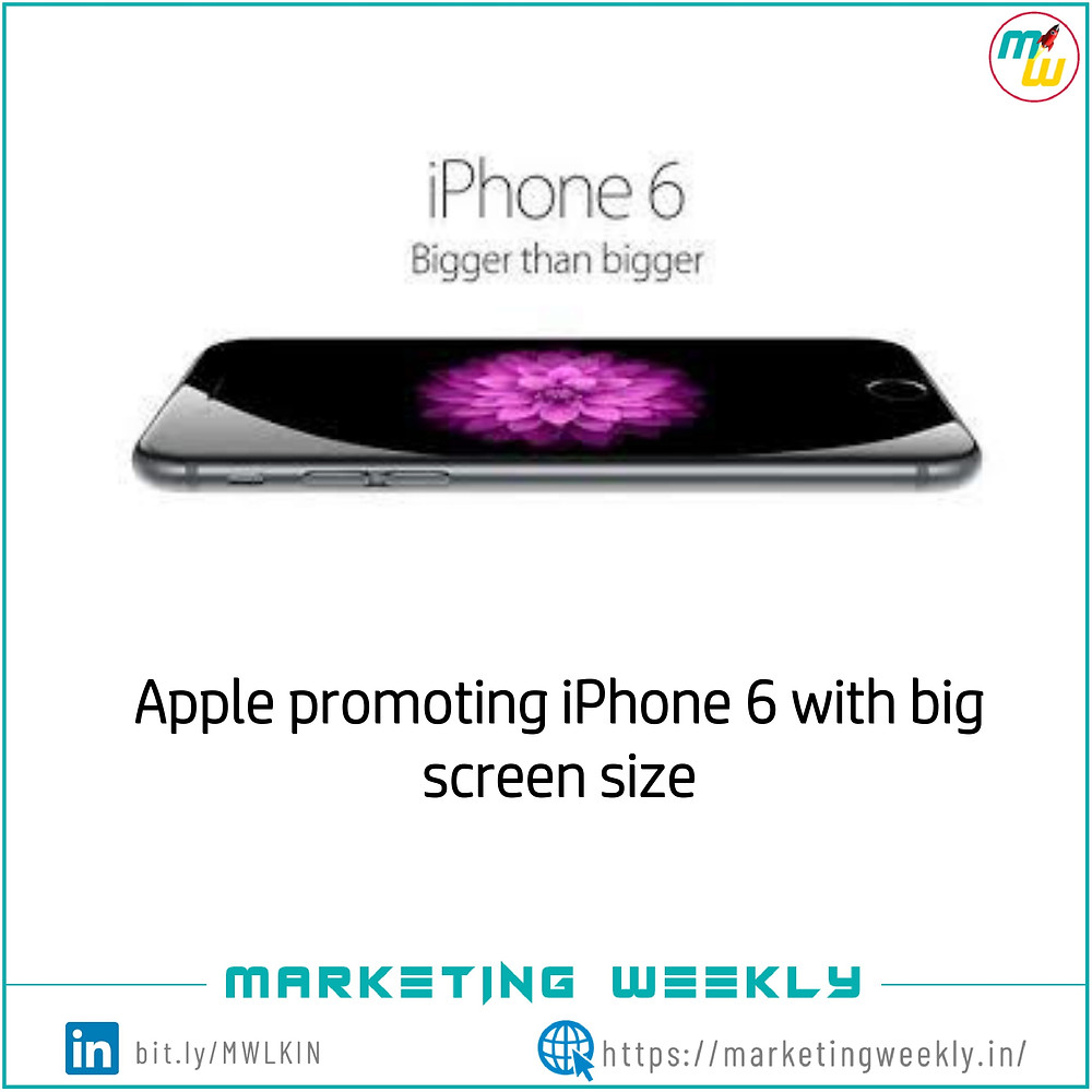 Apple promoting iPhone 6 with big screen size