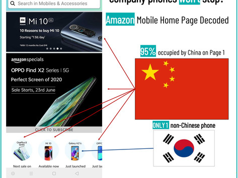 Why buying Chinese company phones won't stop? - AMAZON home page decoded