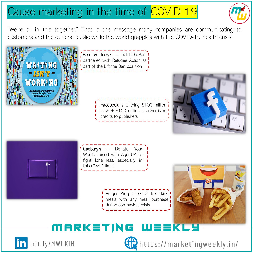 Cause marketing COVID 19 examples