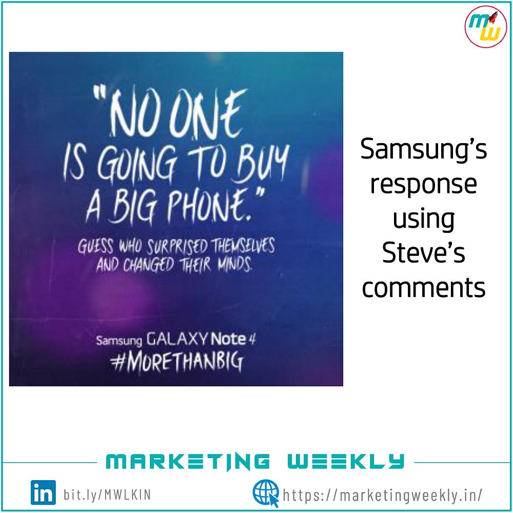 Samsung's response to Apple
