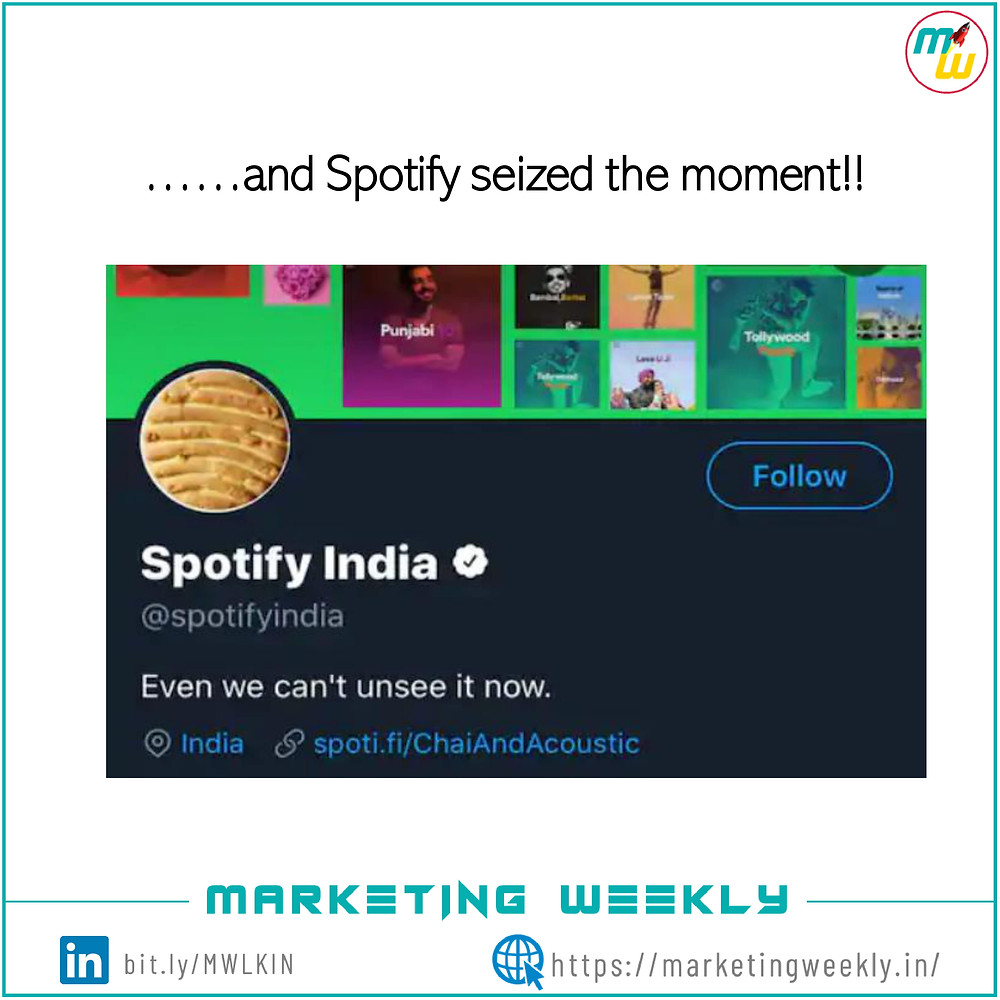 Screen shot of spotify's Twitter page