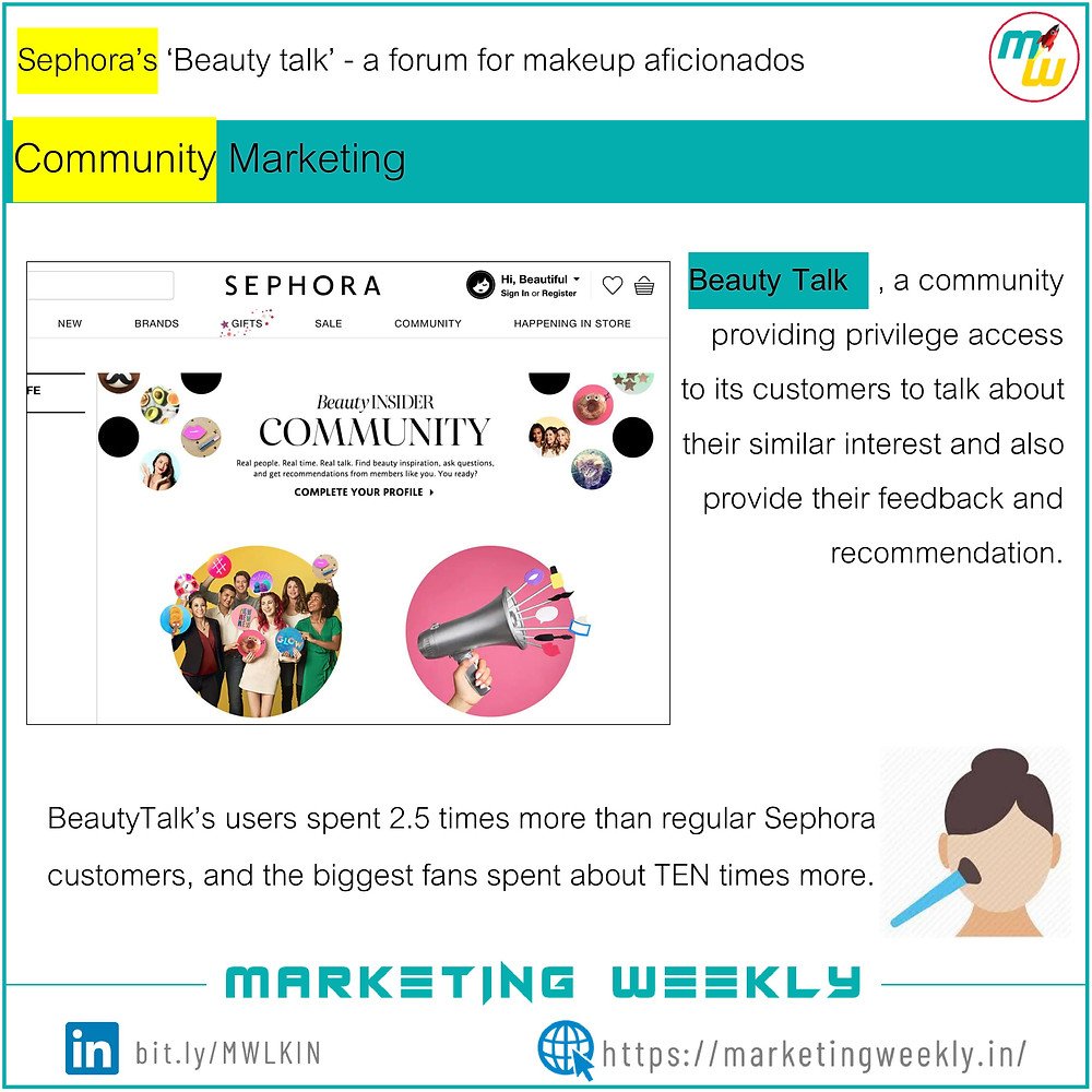 Community Marketing - Sephora's Beauty talk