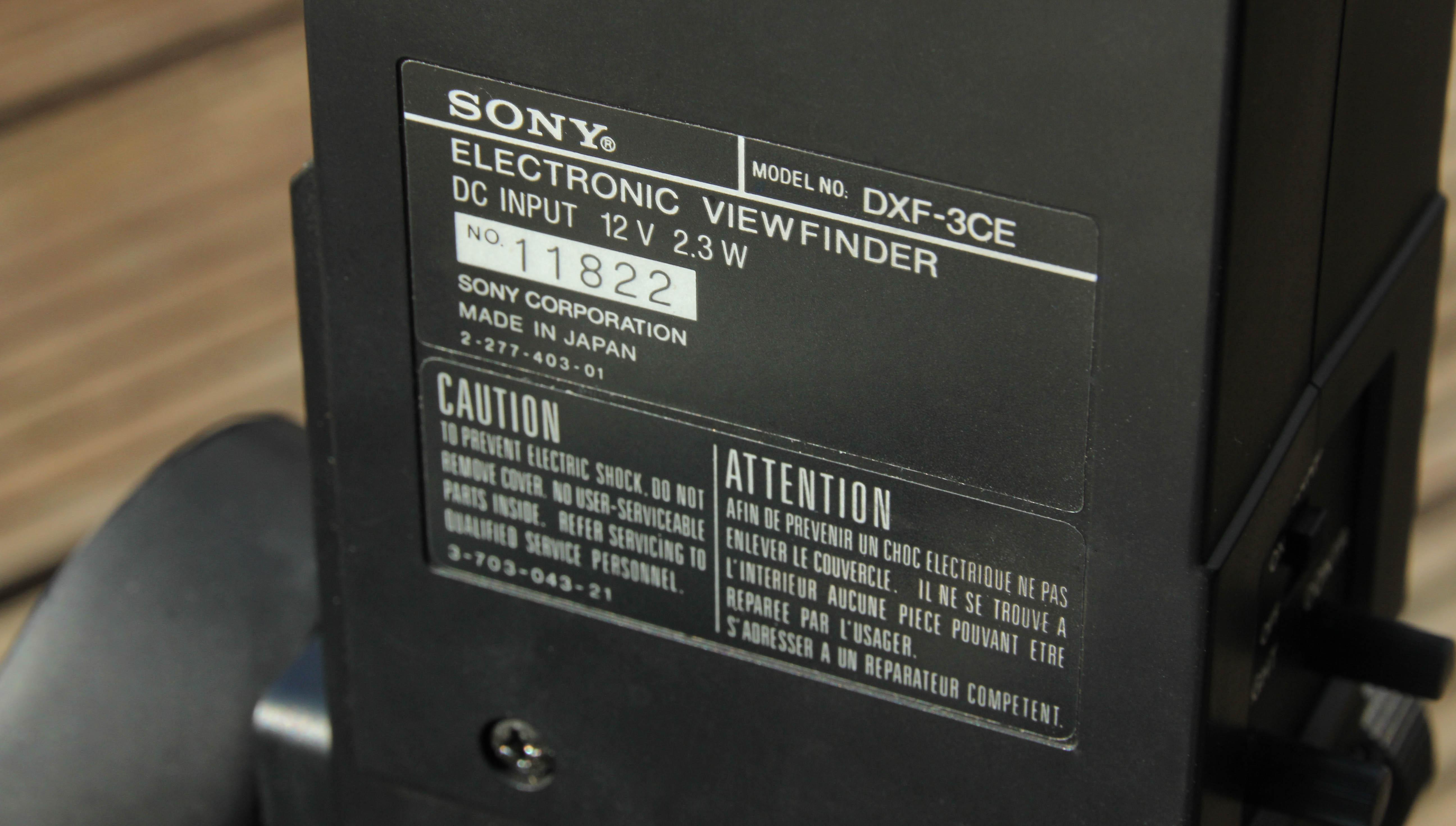Sony DXC-6000P-7