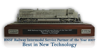 "BNSF Railway selects NASCENT Technology for coveted ""Intermodal Service Partner of the Year"" Award"