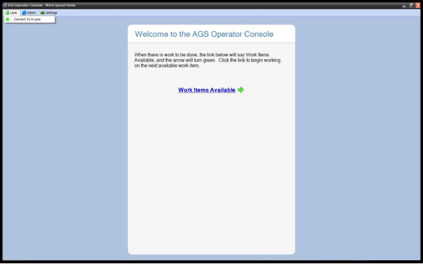SYNAPSE AGS Operator Console Screen