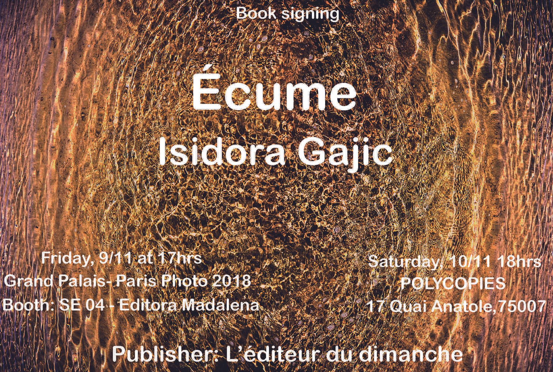 Ecume book signing, Nov. 2018, Grand Palais, Paris Photo, France