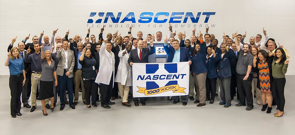 NASCENT Group Shop with 1000th Kiosk