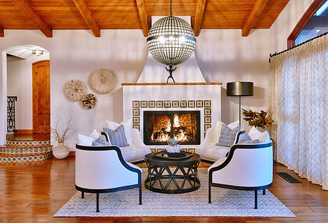 modern spanish style living room located in solana beach california