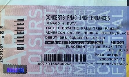 Place de concert DEMAGO 10 octobre 2008 @ Poste à Galène Marseille