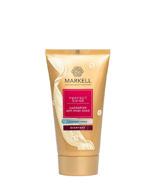 Markell Perfect shine хайлайтер для лица Gold, 30 мл