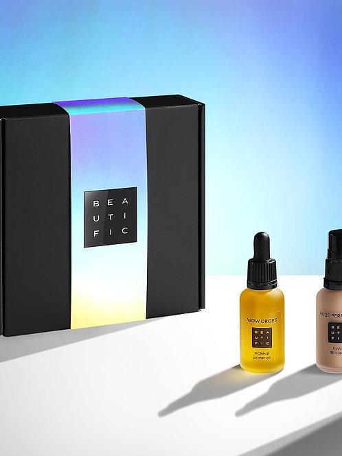 BEAUTIFIC Косметический набор WOW Makeup для лица и макияжа: праймер и BB-крем..