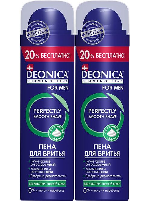 """Deonica For Men Набор Пена для бритья """"Для чувствительной кожи"""", 240 мл (2 шт)"""