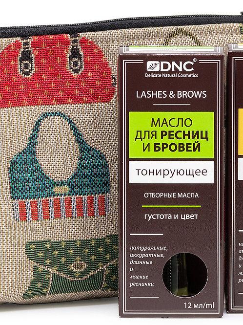 DNC набор:  Масло для ресниц и бровей питательное, 12 мл, Масло для ресниц и б..