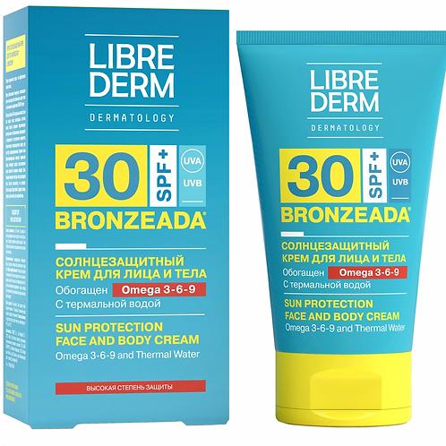 Librederm Bronzeada Солнцезащитный крем SPF30 с Омега 3-6-9 и термальной водой..