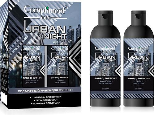 Compliment Urban night Подарочный набор: шампунь, 250 мл + гель для душа, 250 ..