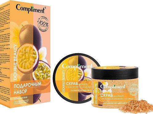 Compliment Насыщение витаминами и детокс Подарочный набор: скраб для тела, 400..