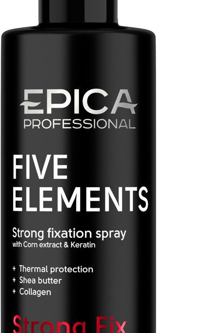 Epica Five Elements Спрей сильной фиксации с термозащитным комплексом, экстрак..