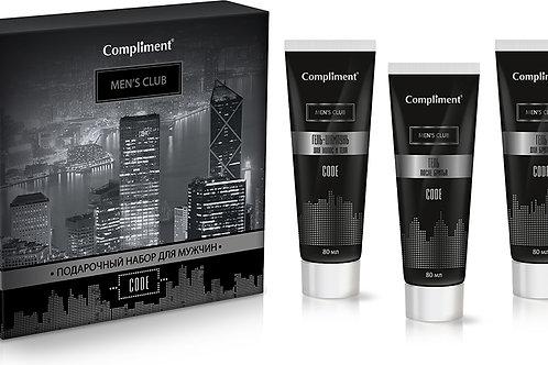 Compliment Code Подарочный набор: гель-шампунь, 80 мл + гель для бритья, 80 мл..