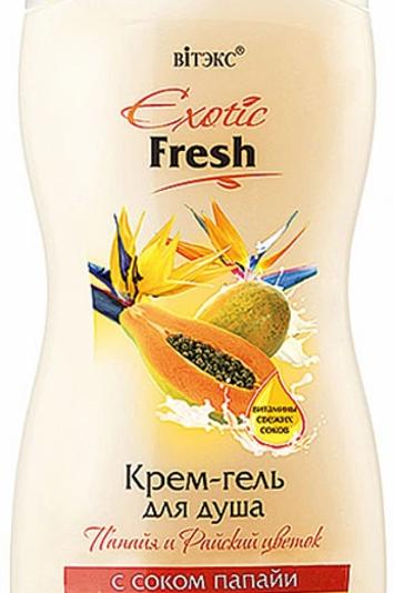 """Витэкс Крем-Гель для душа """"Exotic Fresh. Папайя и Райский Цветок"""", 515 мл"""