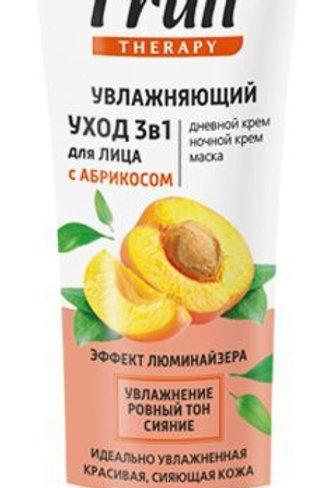 Витэкс Fruit Therapy Увлажняющий уход 3в1 для лица с абрикосом, 75 мл