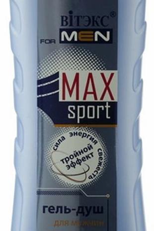 Витэкс For Men Max Sport Гель-ДУШ для мытья волос и тела, 400 мл