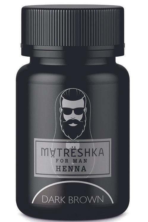 Matreshka Хна для тонирования бровей и бороды  у мужчин в капсулах, цвет Dark ..