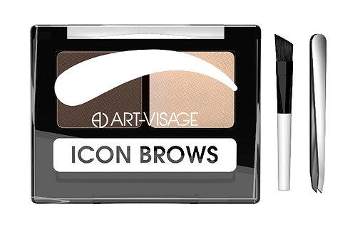 """ART-VISAGE Двойные тени для бровей """"ICON BROWS"""" 423"""