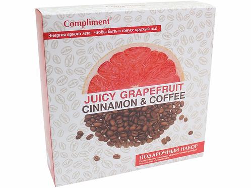"""Compliment , подарочный набор для женщин """"Грейпфрут + Кофе"""", гель для душа + п.."""