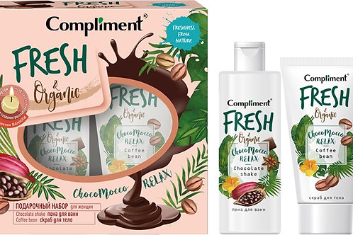 Compliment ChocoMocco relax Подарочный набор: пена для ванн, 200 мл + скраб дл..