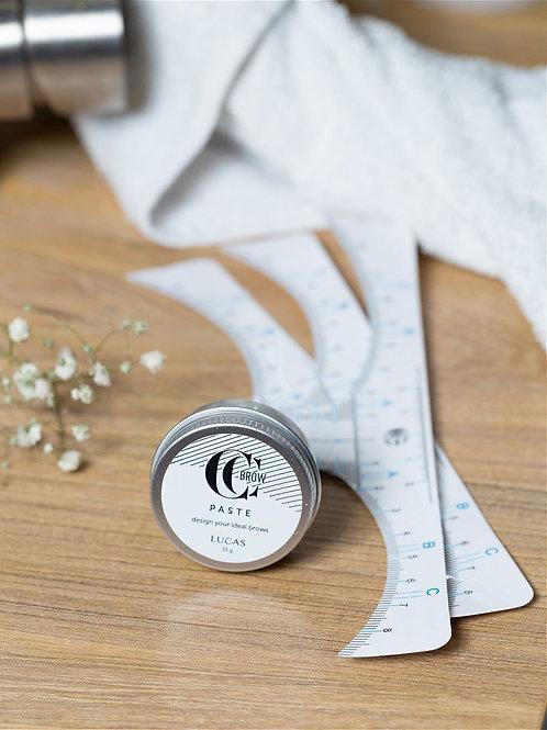 CC CCLASHES/Паста для коррекции бровей белая 15 гр,с наклейкой-линейкой (3 шт...