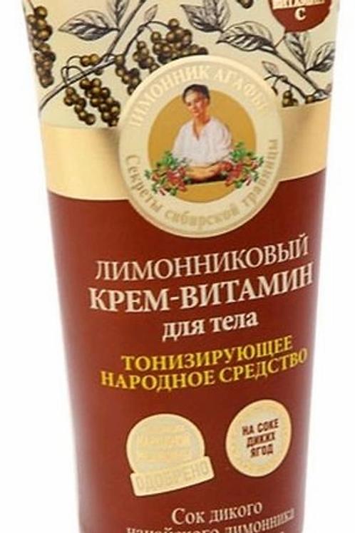 Рецепты бабушки Агафьи крем для тела лимонник, 200 мл