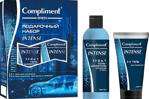 Compliment Intense Подарочный набор: гель-шампунь, 2в1, 250 мл + гель для умыв..