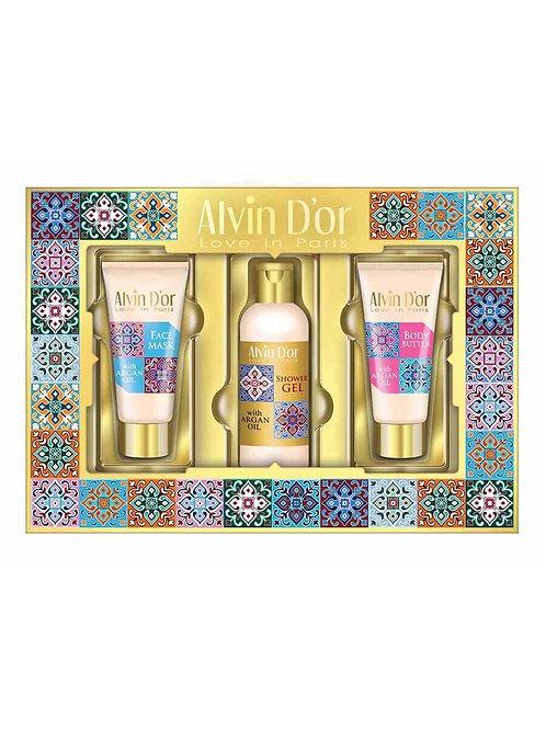 Alvin D'or  Набор SPA с аргановым маслом A  масло+маска+гель