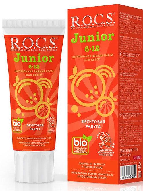 """Зубная паста для детей R.O.C.S. Junior """"Фруктовая радуга"""", 74 г"""