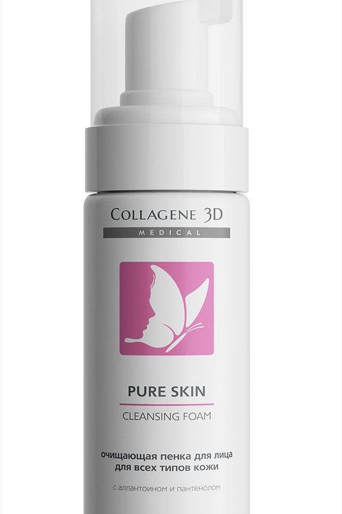 Medical Collagene, 3D Очищающая пенка для всех типов кожи Pure Skin, 160 мл