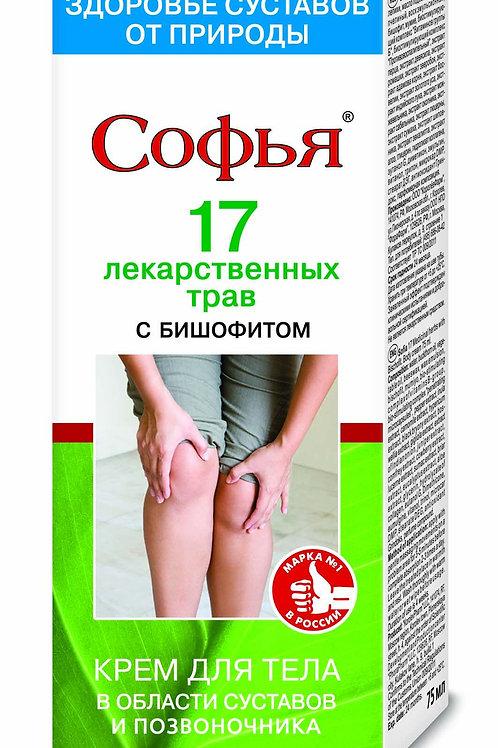 17 лекарственных трав/бишофит Софья Крем для тела, 75мл