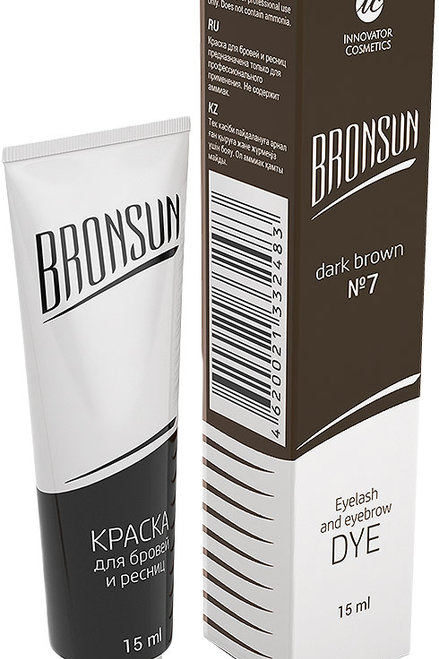 Bronsun Краска для ресниц и бровей, тон №7, 15 мл