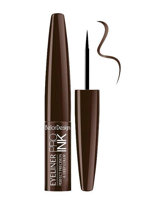 BelorDesign, Подводка для глаз PRO INK тон 2 шоколадная