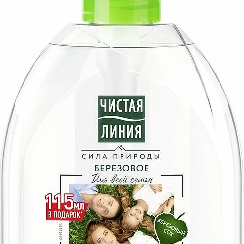 Чистая Линия Для всей семьи жидкое мыло Березовое 520 мл