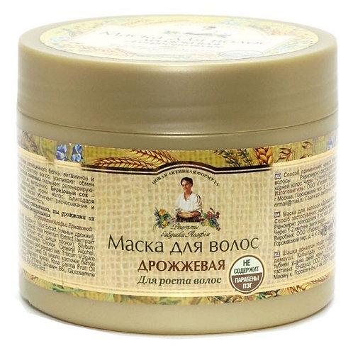 Рецепты бабушки Агафьи Маска для волос дрожжевая  для роста волос, 300 мл