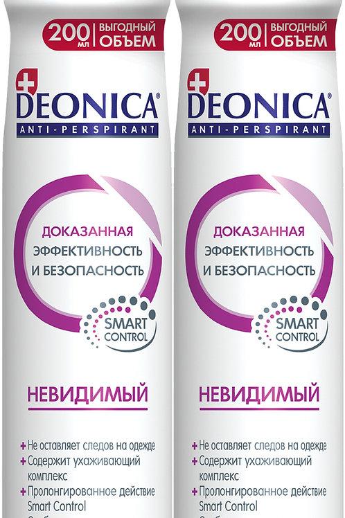 "Deonica Набор Антиперспирант ""Невидимый"". Женский. Спрей, 200 мл (2 шт)"