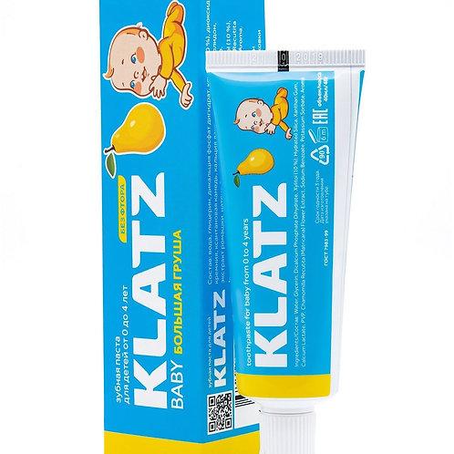 Klatz Baby Зубная паста Большая груша, без фтора, для детей, 48 мл