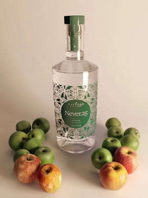 Apple-flavoured gin bottle