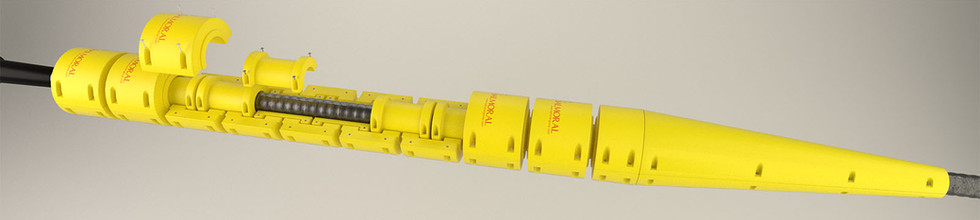 Overview of installation of flexlink onto cable